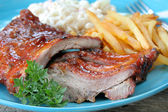 Bbq ribben close-up — Stockfoto