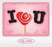 Love is sweet — Stock Vector