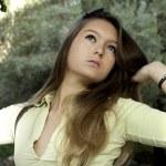 Beautiful woman poses on a fashion style — Stock Photo #5151693