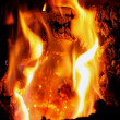 Wood fire cracking — Stock Photo