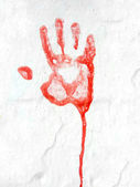 Red Hand-Print — Stock Photo