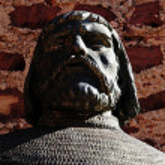 Iron king Statue — Stock Photo