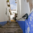 Typical street of obidos — Stock Photo