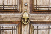 Door texture and knob — Stock Photo