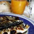 Grilled mackerel - Stockfoto