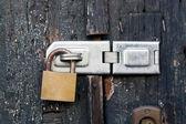 Detail of lock on door — Stock Photo