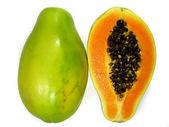 Papaya from top — Stock Photo