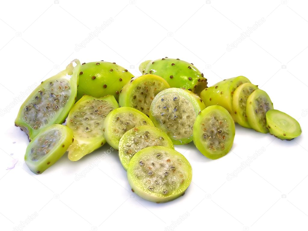 Various cactus figs isolated on a white background — Stock Photo #5250365