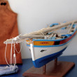 Typical fishing miniature boat — Stock Photo