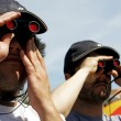 Stock Photo: Two binocular users