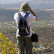 Stock Photo: Explorer with binoculars