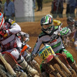 Stock Photo: Motocross dirtbikes