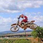 Mid-Air jump — Stock Photo