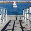 Passage and sailing boat — Stock Photo