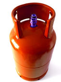Orange Gas Bottle — Stock Photo