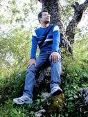 Sitting among the nature — Stock Photo