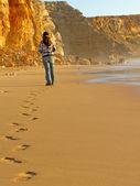 Walk on the beach — Stock Photo