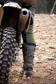 Motocross rider detail — Stock Photo