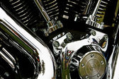 Motorcycle engine detail — Stock Photo