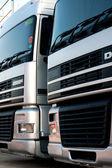 Angle of trucks — Stock Photo