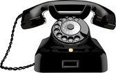 Ein Telefon aus den fünfzigern. — Stock Photo