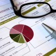 Financial portfolio review - Stock Photo
