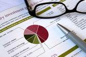 Revisão de carteira financeira — Foto Stock