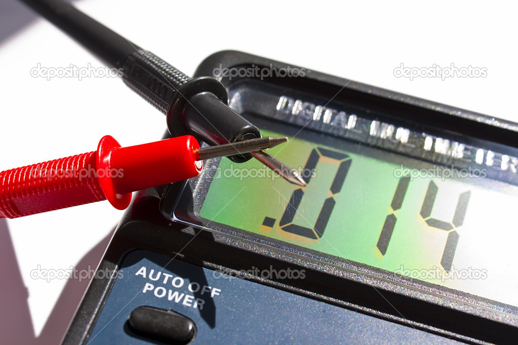 Digital multimeter for electrical measuring  Stock Photo #5204891