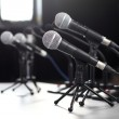 Press Conference microphone — Stock Photo