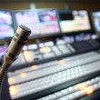 TV studio microphone - Stock Photo