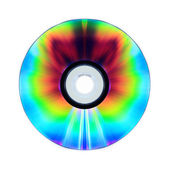 Compact disk isolated on white background — Stock Photo