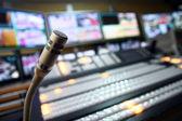 TV studio microphone — Stock Photo