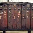 Old rusty post boxes — Stock Photo
