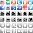 Social Media Icons — Vektorgrafik