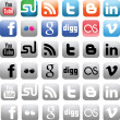 Social Media Icons — Image vectorielle