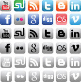 Social Media Icons — Vector de stock