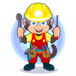 Royalty-Free Stock Vector Image: Construction Monkey