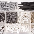 Screws nails dowels - Foto Stock