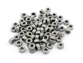Steel nuts — Stock Photo