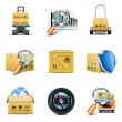 Distribution and shipping icons | Bella series - Stockvectorbeeld