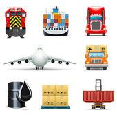Iconos de transporte y de carga | bella series — Vector de stock