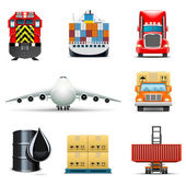 Shipping and cargo icons | Bella series — Vector de stock