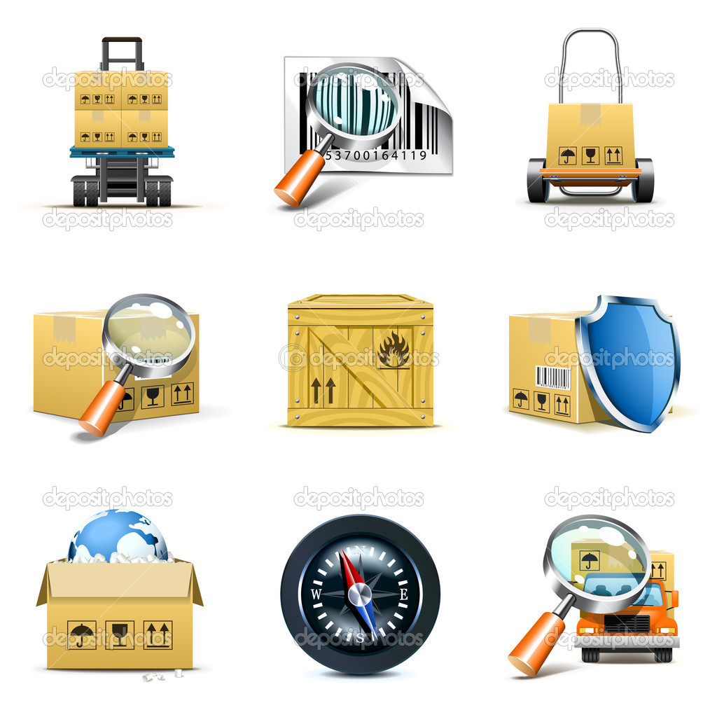 Distribution and shipping icons  Stock Vector #5188484