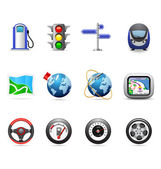 Road icons — Stock Vector