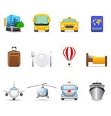 Travel and transportation icons — Stockvector