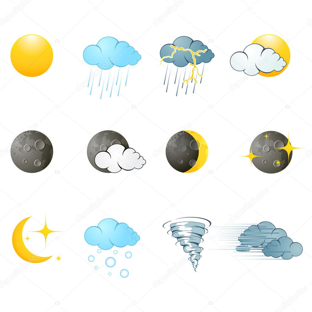 Weather icons  — Stock Vector #5334937