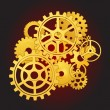 Gears in motion — Image vectorielle