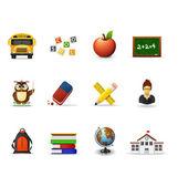 School icons 1 — Stock Vector