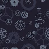 Seamless gears pattern — Stock Vector