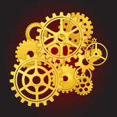 Gears in motion — Stockvector